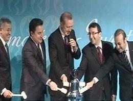 Borsanın ilk gongunu Erdoğan çaldı