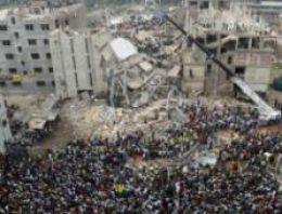 Bangladeş'te çöken binada yangın çıktı
