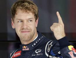Sebastian Vettel'den ezici galibiyet