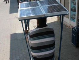 Elektrikli bisiklete güneş paneli