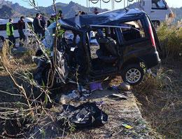 Çorum'da otomobil takla attı: 4 ölü