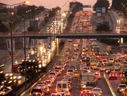 İstanbul'da yılbaşı trafiği çok yoğun