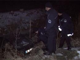 Polisten kaçan sürücü kanala düştü