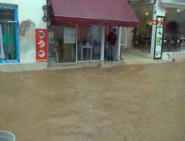 Bodrum'da sel felaketinden görüntüler