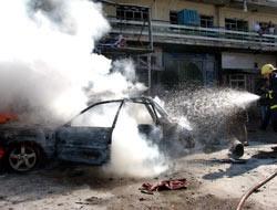 Pazar ortasında bomba patladı