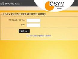 ÖSYM - YGS sınav yerleri (YGS giriş belgesi)
