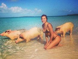 İrina Shayk'ın domuz selfiesi alay konusu oldu!