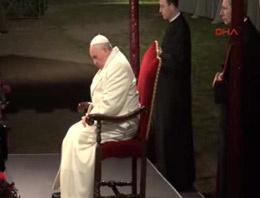 Papa çile yolu ayinini yönetti
