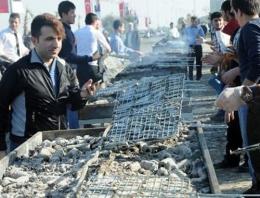 10 bin kişiye 3 ton hamsi dağıtıldı