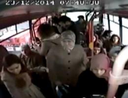 Liseli kıza otobüste taciz görüntülendi