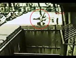 Hırsızlar 5. kattan böyle atladı inanılmaz görüntü