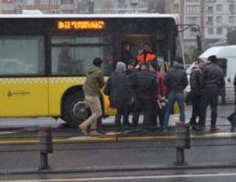 Metrobüste şoke eden ölüm!