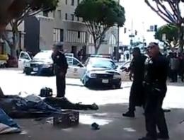 Polis evsiz adamı böyle vurdu