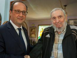 Hollande, Fidel ve Raul Castro ile buluştu