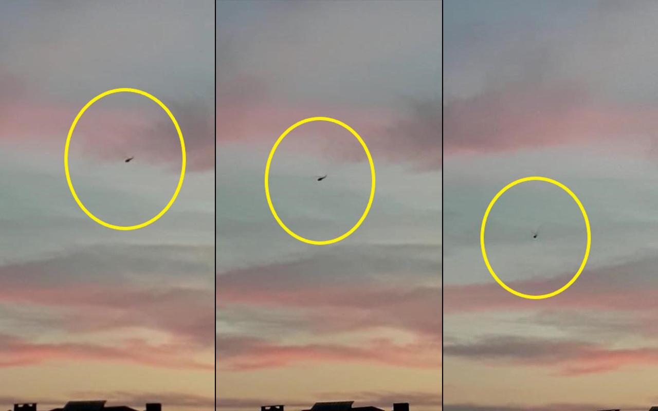 Çekmeköy'de helikopterin düşme anı kamerada