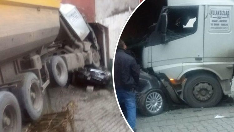Zonguldak'ta freni boşalan TIR, ortalığı savaş alanına çevirdi