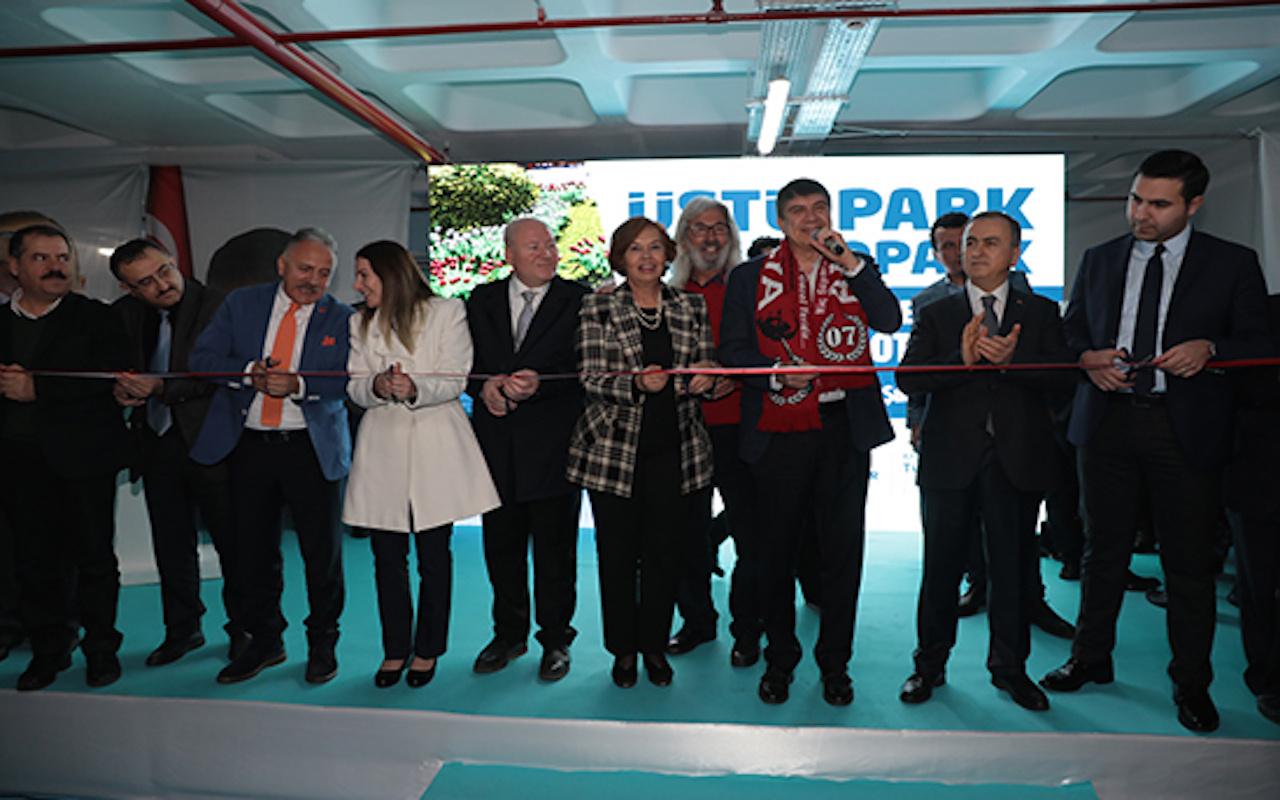 Antalya'nın en çevreci otoparkı açıldı