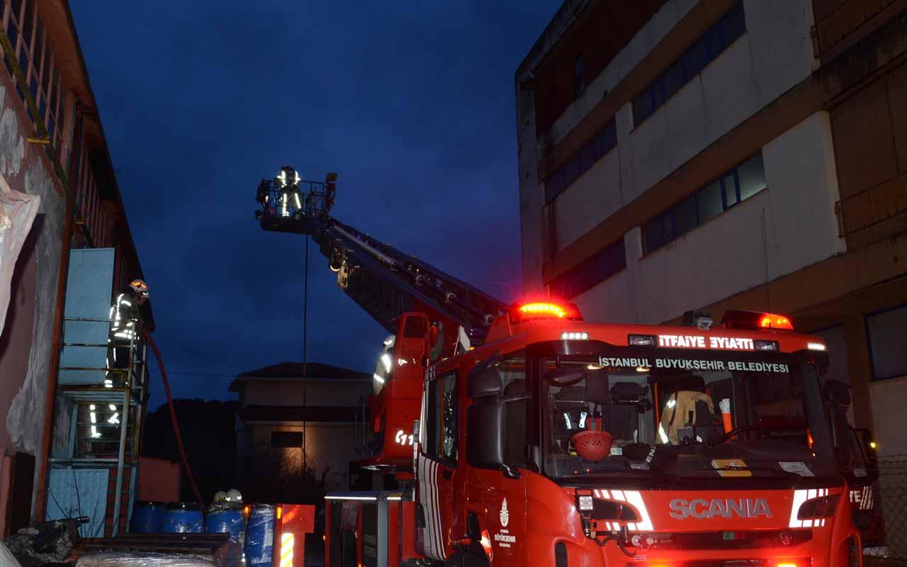 Tuzla'da korkutan yangında