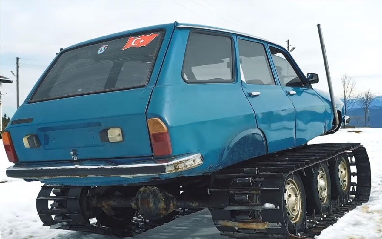 77 model Torosu paletli kar aracına dönüştürdü