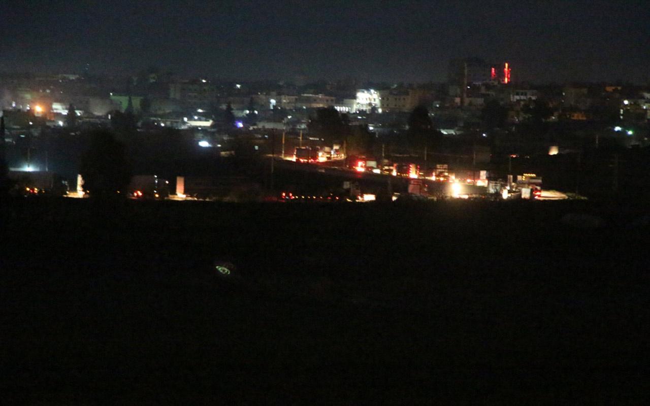 ABD'nin Suriye'ye gönderdiği konvoy görüntülendi