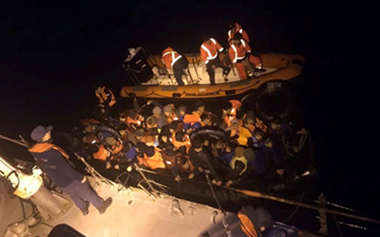 46 kaçak göçmen sahil güvenlik ekiplerine takıldı