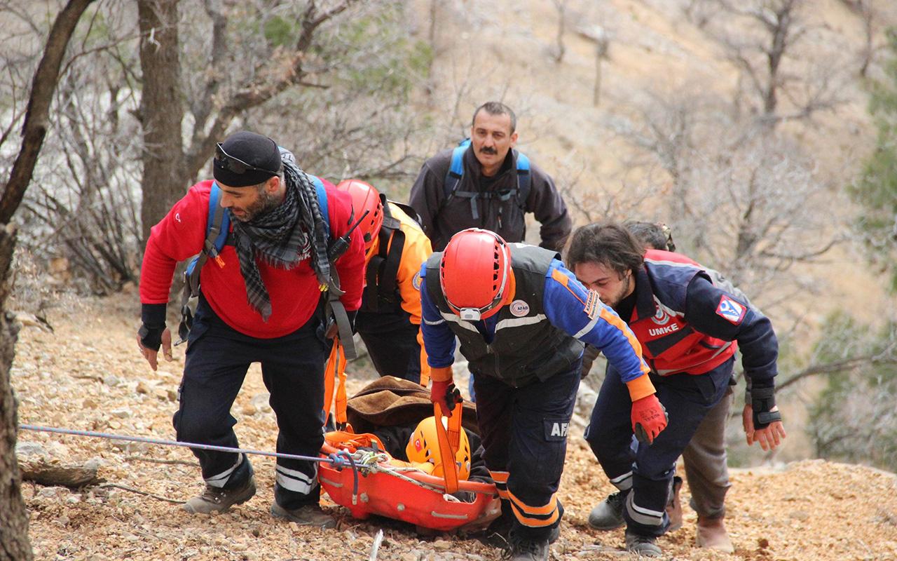 Karaman'da uçurumdan düşen bir kişi 22 saatlik operasyonla kurtarıldı