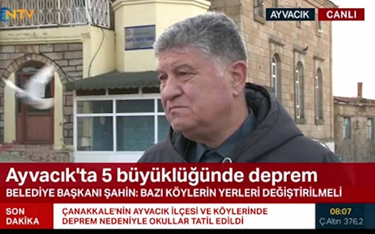 Ayvacık Belediye Başkanı Mehmet Ünal Şahin: 10 köyde hasar oluştu