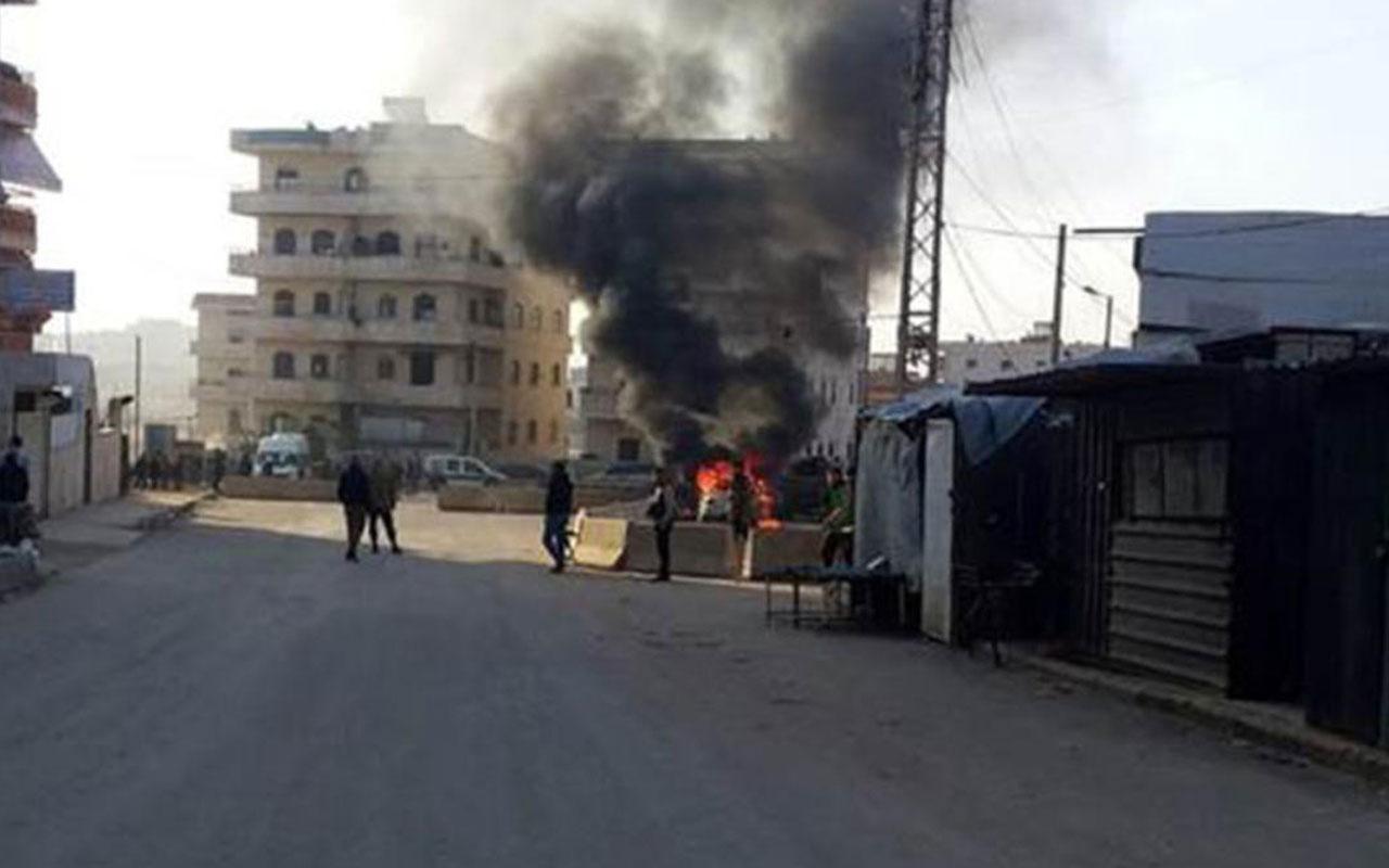 Afrin'de bomba yüklü araçla saldırı