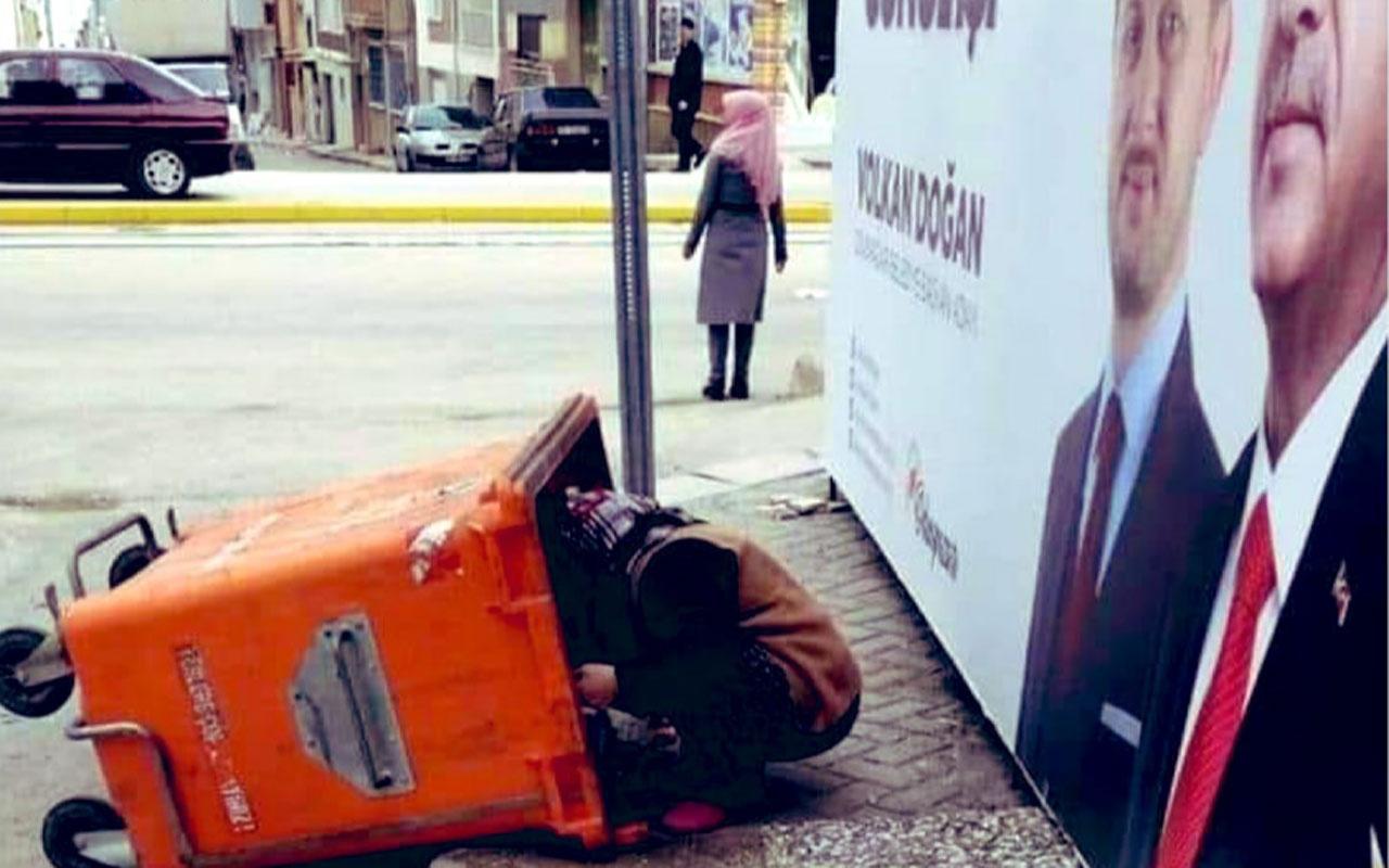 Eskişehir'deki çöpten yemek toplayan kadın resmi çok başka çıktı