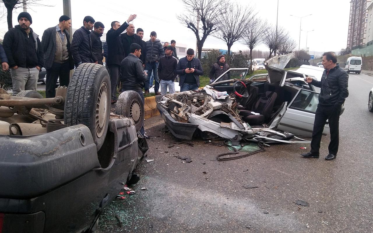 Gaziantep'te akılalmaz kaza: 7 metreden aracın üzerine uçtu!>