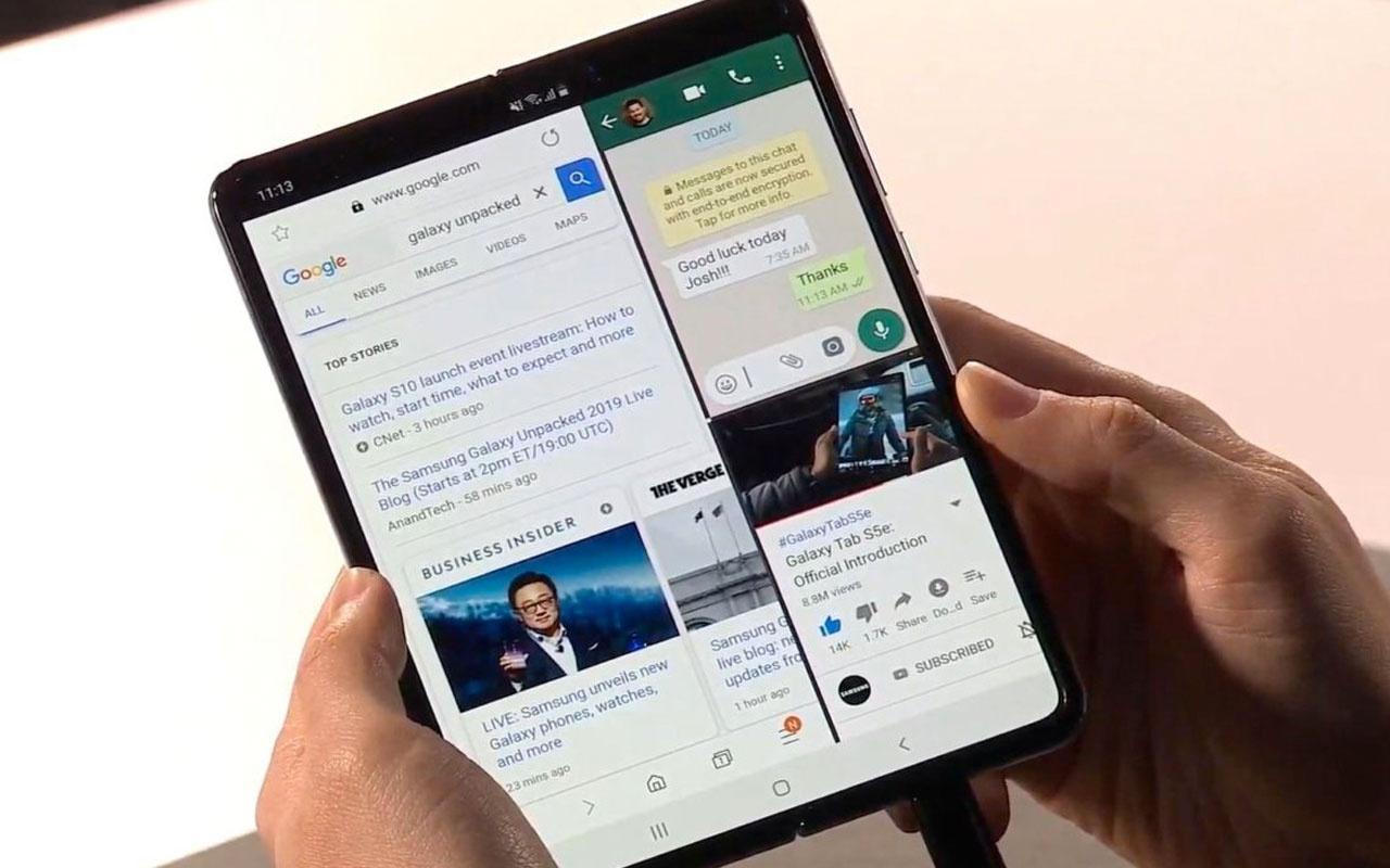 Samsung'un katlanabilir telefonu Galaxy Fold'dan üzen haber