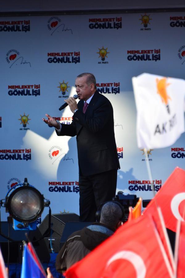 Erdoğan: İmkanları terörde kullanırsanız beklemeden kayyumları atarız