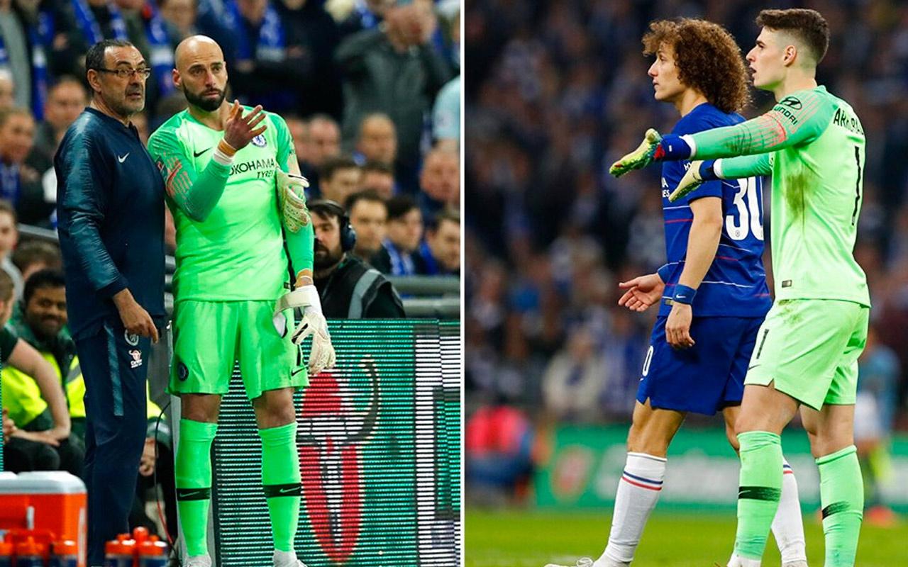 Sarri 'çık' dedi Kepa direndi! Chelsea-City maçında görülmemiş olay