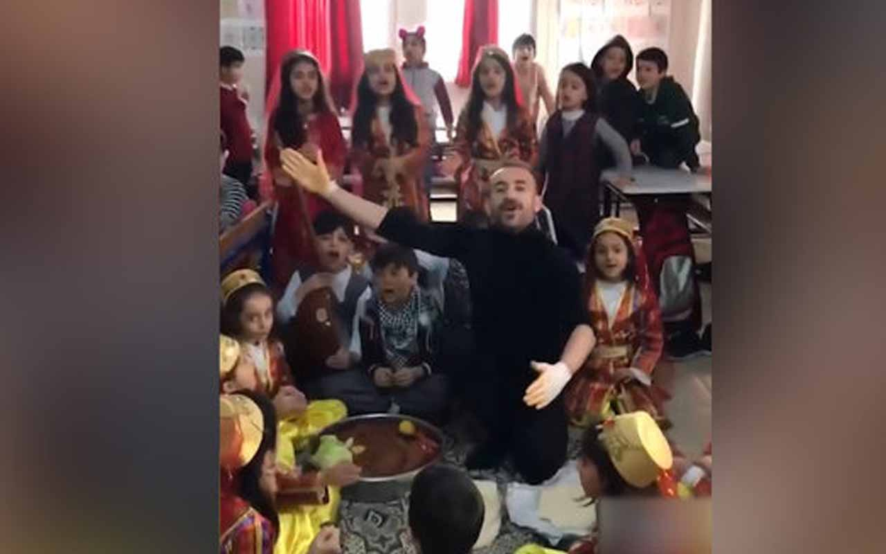 Öğretmen ve öğrencilerin eğlenceli anları