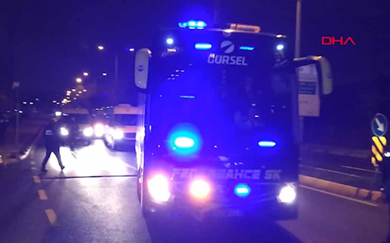 Fenerbahçe kafilesi, Samandıra'da coşkuyla karşılandı