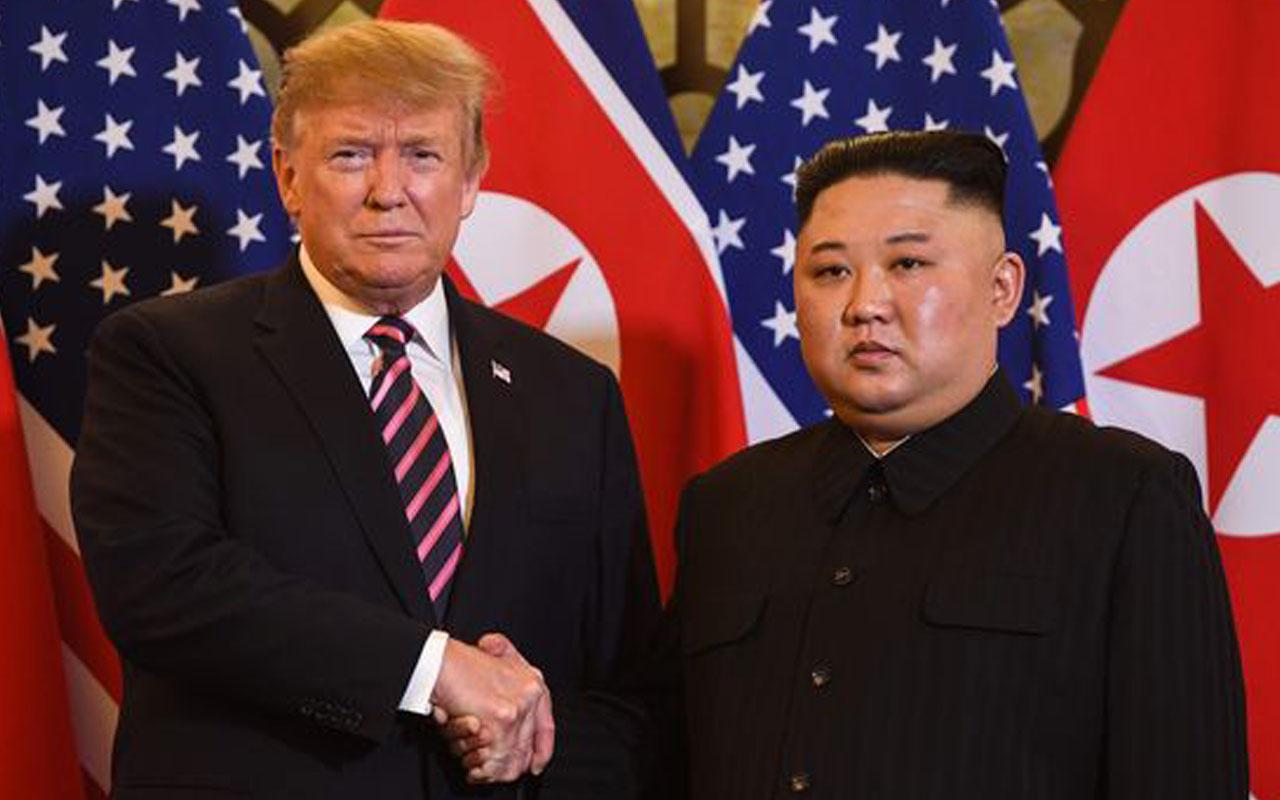 Donald Trump ile Kim Jong Un bir araya geldi