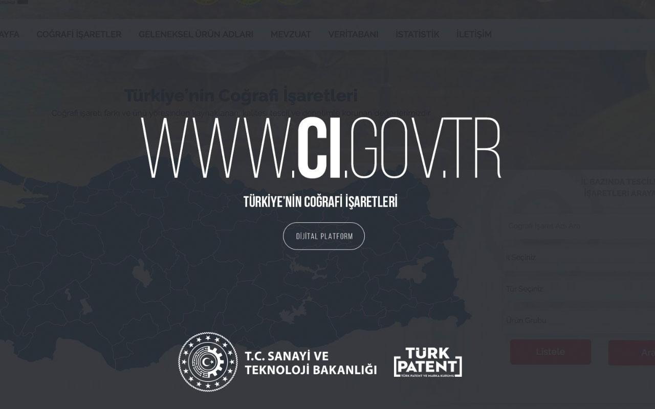 Türkiye'nin coğrafi işaretleri artık Türk Patent internet sitesinde