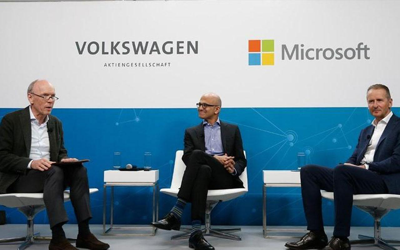 Volkswagen ve Microsoft 'bulut'ta anlaştılar