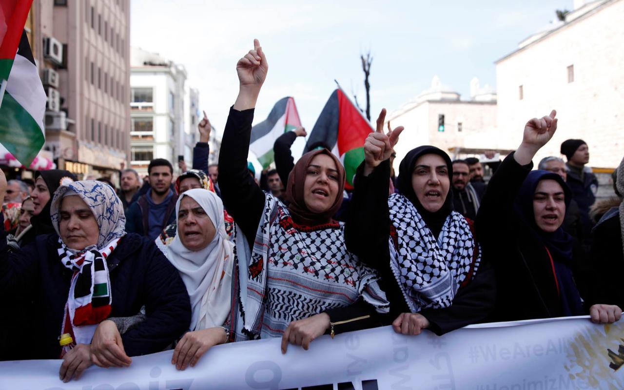"""""""Kudüs İçin Hepimiz Meryemiz"""" yürüyüşü son buldu"""