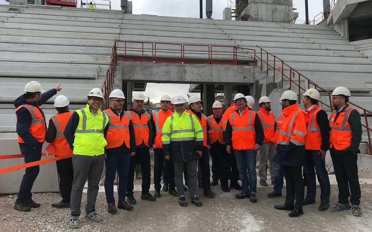 Göztepe Stadı inşaatına önemli ziyaretçiler