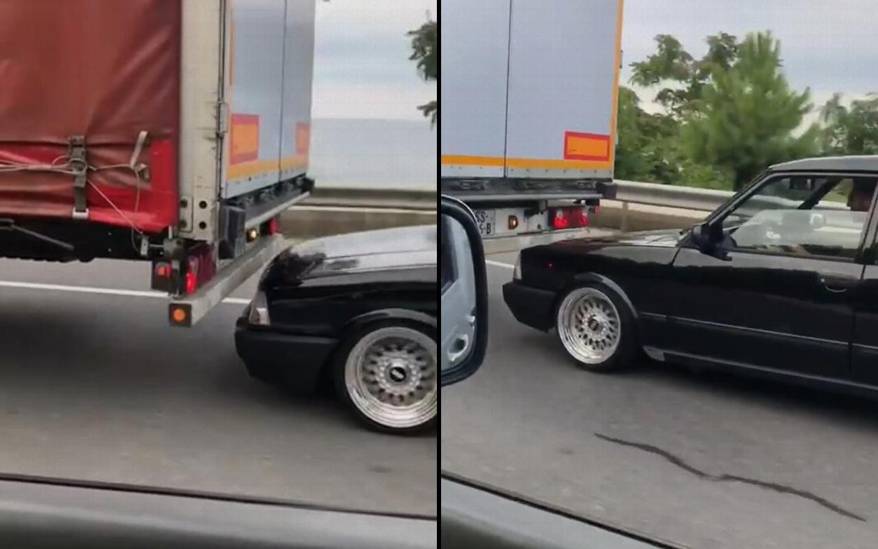 Trabzon trafiğinde sürücüleri tehlikeye attı: Gözaltına alındı!
