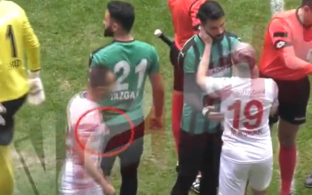 Amedsporlu futbolcunun jiletli saldırı anları