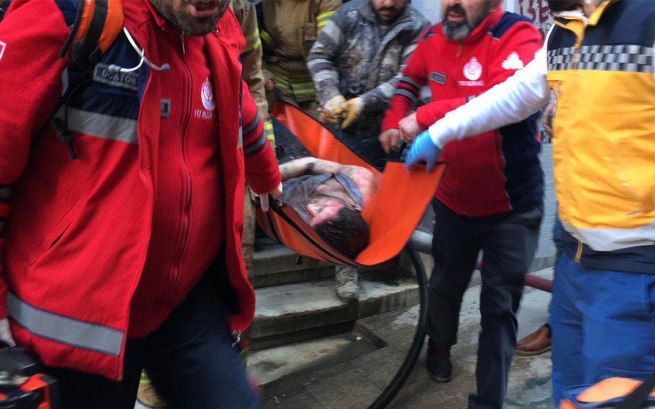 Beyoğlu'nda korkutan yangın! Çok sayıda ekip olay yerinde