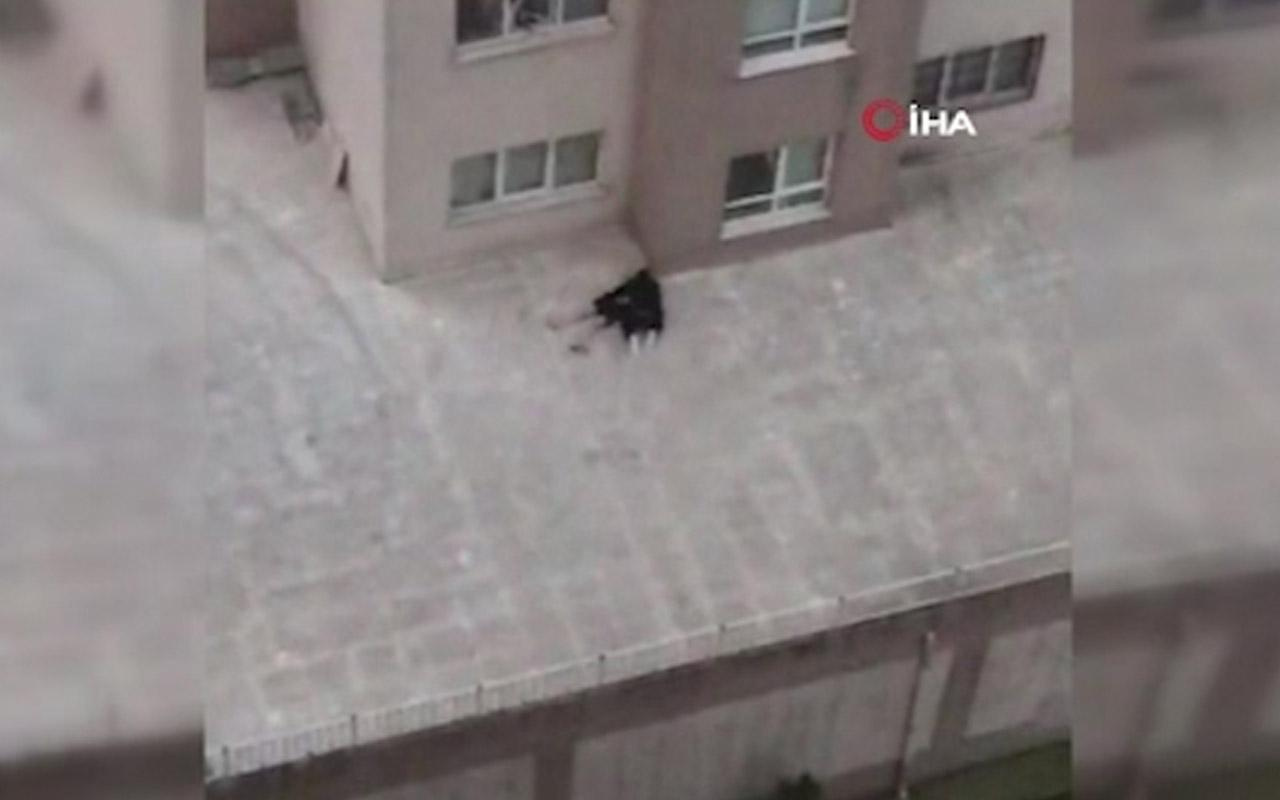 """Dördüncü kattan atlayan kız arkadaşına """"Ölme"""" diye yalvardı"""