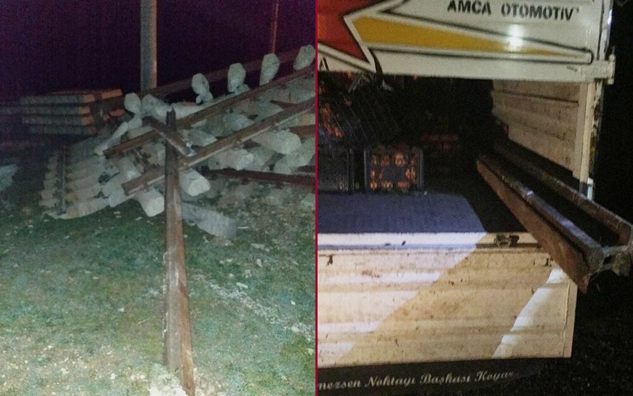 Malatya'da tren raylarını çalarken suçüstü yakalandılar