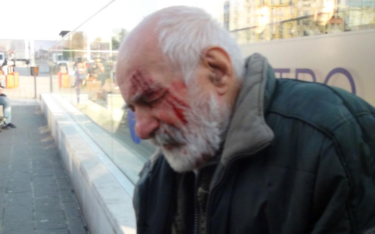 Oyuncu Hikmet Karagöz Taksim'de yürürken merdivenden düştü