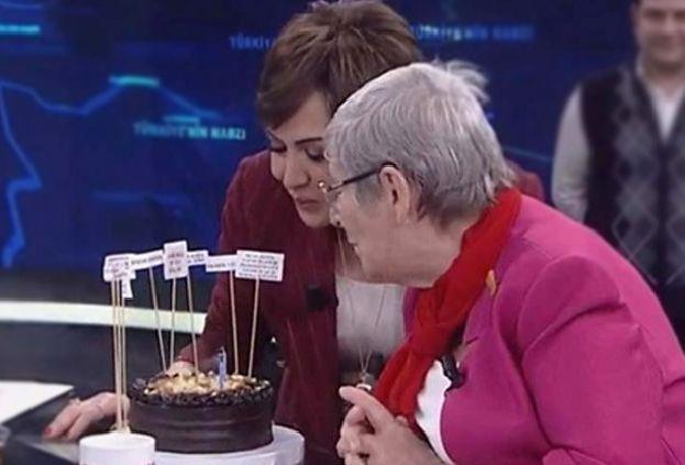 Canan Karatay'ın doğum günü pastasına bakın özel pastada yok yok