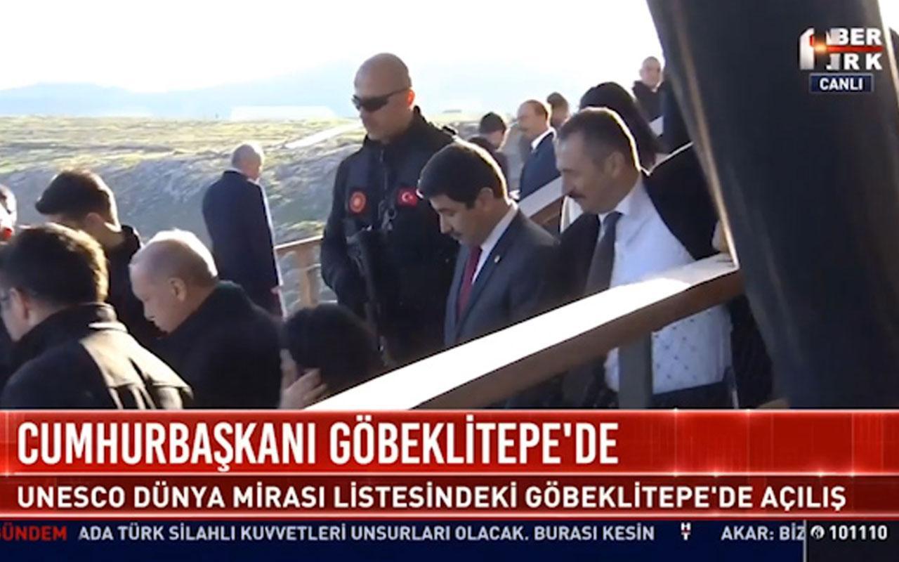 Cumhurbaşkanı Erdoğan Göbeklitepe'de