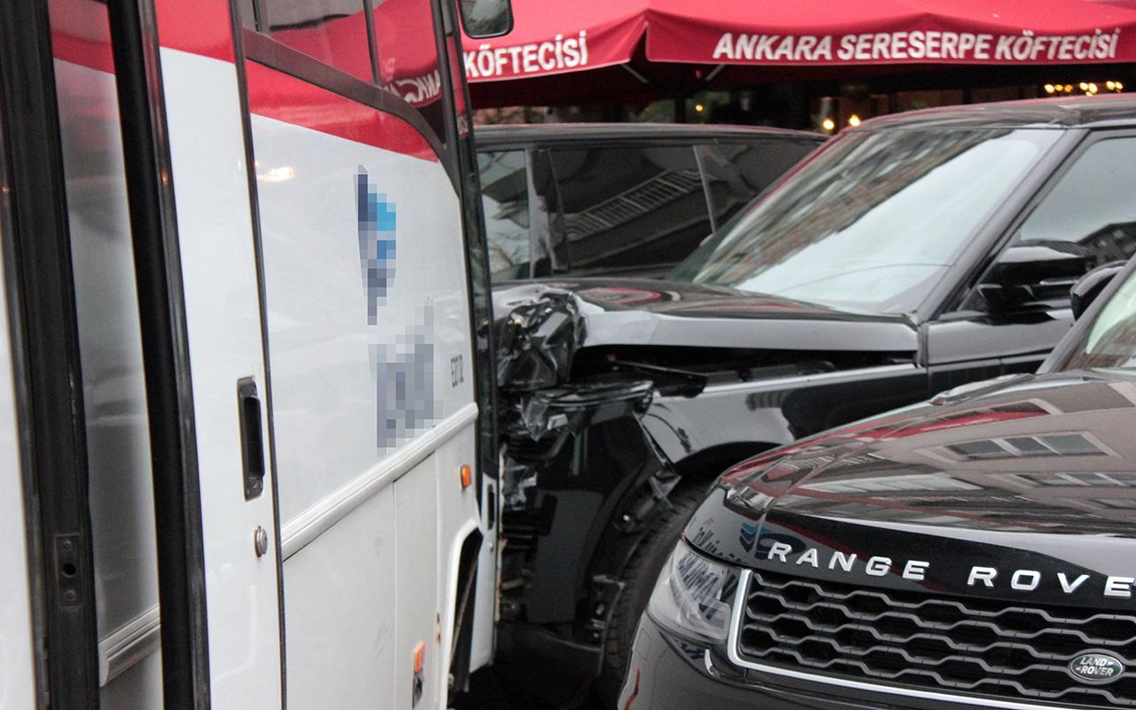 Servis aracı yaptı! İstanbul'da 5 milyonluk kaza!