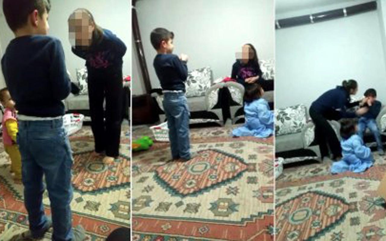 Çocuklarının gözü önünde üvey oğluna şiddet gösteren anne serbest